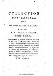 François de Boyvin du Villars: Mémoires du Sieur François de Boivin, baron du Villars.