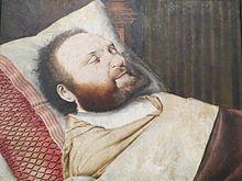 Hermann Bonnus auf dem Totenbett (Quelle: Wikimedia)