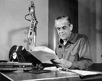 WBBR - Boris Karloff hosted a weekly children's radio program on WNEW in the early 1950s.  The program also became popular with adults.