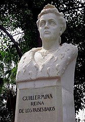 bust of Queen Wilhelmina