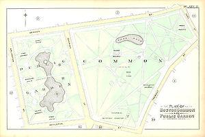Boston Common and Public Garden - Image: Boston Common Public Garden 1890