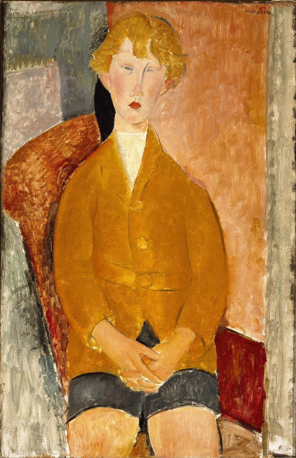 Plik:Boy in Short Pants by Amedeo Modigliani.jpg – Wikipedia, wolna  encyklopedia