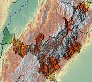 Tenza Valley - Image: Boyaca Topographic 2