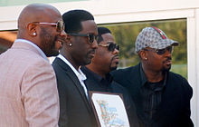 Boyz II Men receiving a star on the Hollywood Walk of Fame in January 2012