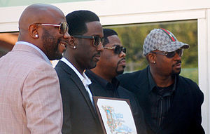 Boyz II Men - Boyz II Men receiving a star on the Hollywood Walk of Fame in January 2012