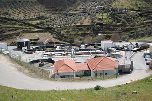 Water treatment - A sewage treatment plant in northern Portugal.