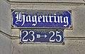 Braunschweig Hagenring 23–25 Straßenschild.jpg