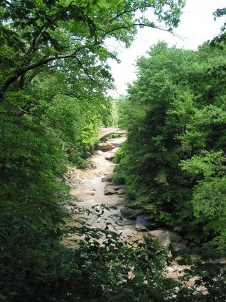 Brecksville, Ohio - Chippewa Creek in Brecksville Reservation, the largest park by in the Cleveland Metroparks system.