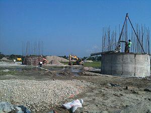 Bhadrapur, Mechi - Image: Bridge being dewatered