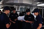 Briefing on the USCGC Juniper's bridge during Operation Nanook 2012 -- 120809-G-NB914-008.jpg
