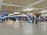 Brisbane International Terminal the Departures check in level.jpg