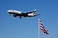 British Airways Boeing 777 flying over Fort Mifflin.jpg