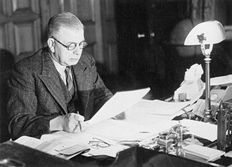 A. V. Alexander, 1st Earl Alexander of Hillsborough - Alexander at his desk at the Admiralty during the Second World War