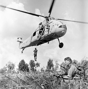 Indonesia–Malaysia confrontation - Image: British forces in Borneo during Confrontation