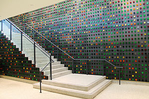 Bronx Library Center - Image: Bronx Library Center Concourse stair