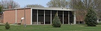 Brown County, Nebraska - Image: Brown County Courthouse (Nebraska) from SW 2