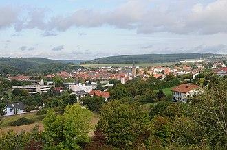 Buchen - Buchen, view from Wartberg