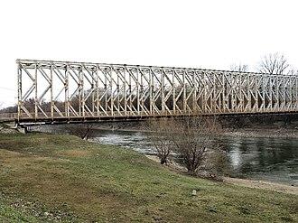Bridges of Budapest - K Bridge leading to Óbudai Island