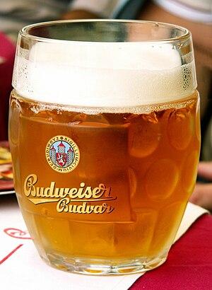 Budweiser Budvar Brewery - A mug of Budweiser Budvar