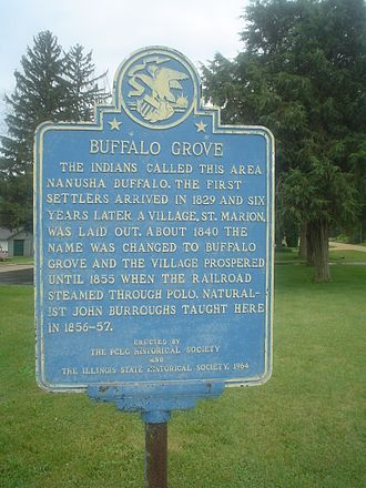 Buffalo Grove, Ogle County, Illinois - Sign along Milledgeville Road