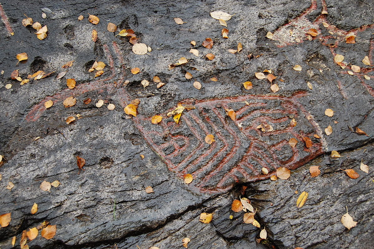 Rock carvings at tennes wikipedia