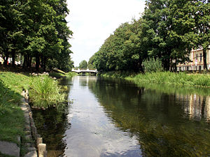 Słupsk - Słupia River in the city centre