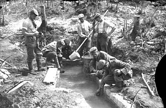 Meuse-Argonne Offensive - German soldiers drawing water
