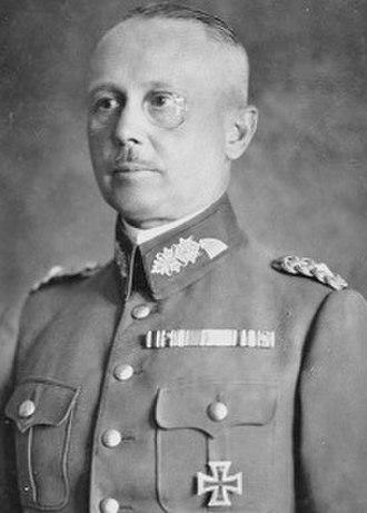 Oberkommando des Heeres - Image: Bundesarchiv Bild 183 R16862, Werner von Fritsch (cropped)