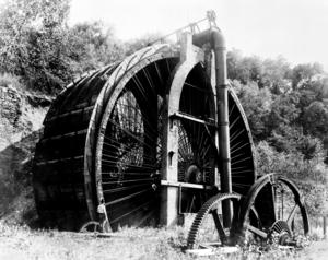 Burden Iron Works - Waterwheel at Burden Iron Works, Troy, NY