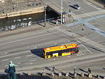 Buses seen from Christiansborg Palace 06.JPG