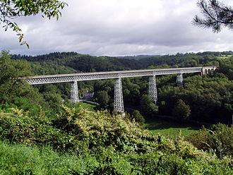 Ahun - The railway viaduct at Busseau