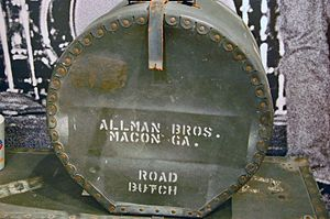 Butch Trucks - A Trucks drum case in The Allman Brothers Band Museum