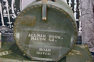 The Allman Brothers Band Museum - Item on display (drum case)