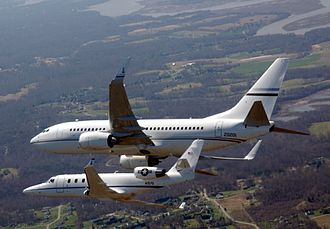 201st Airlift Squadron - 201st AS C-38A and C-40C in flight.