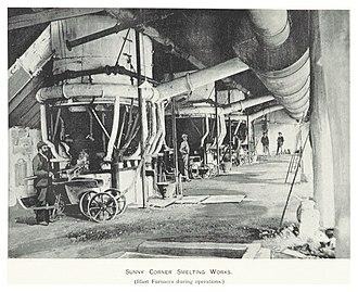 Sunny Corner, New South Wales - Image: CARNE(1899) p 237 SUNNY CORNER SMELTING WORKS