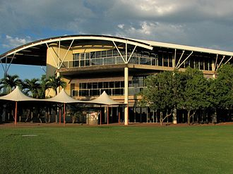 A campus building of Charles Darwin University CDU library, Casuarina.jpg