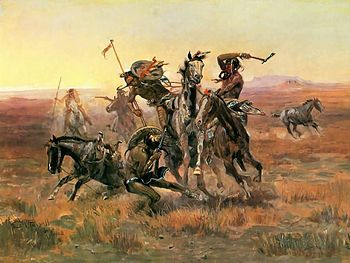 Painting When Blackfoot And Sioux Meet by Char...