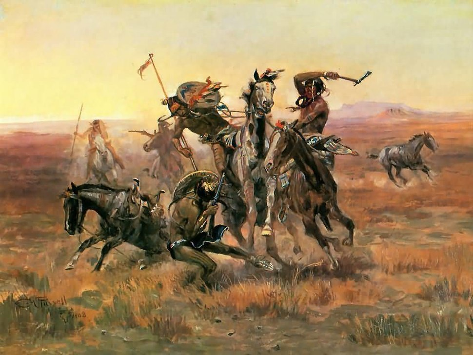 CM Russell When Blackfoot And Sioux Meet.jpeg