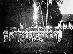 Indonesian National Police - The veldpolitie in Malang, East Java (c. 1930)