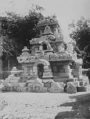 Merak Temple - The reconstructed roof of Candi Merak