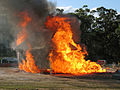 CSIRO ScienceImage 11113 The steelframed house at the height of the flame test at Mogo on Friday 16 April 2010.jpg