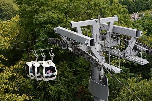 Cable cars at the Heights Of Abraham (geograph 4636943)