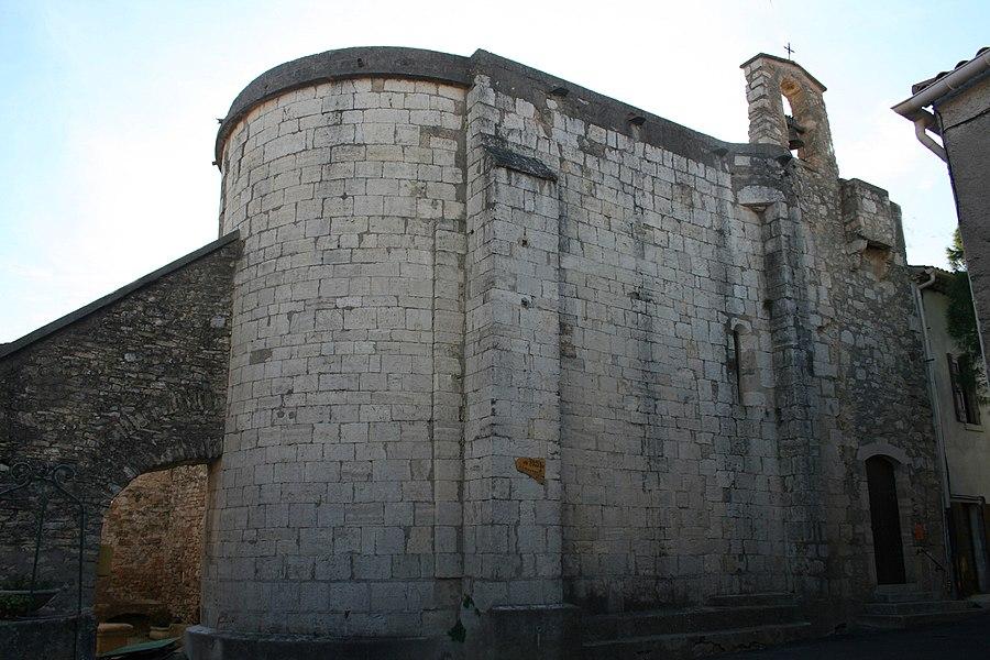Aumelas (Hérault) - hameau de Cabrials - église St-Pierre-et-St-Paul (XIIe-XVIIIe siècles). Style roman.
