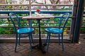 Cafe Table at Ocho Restaurant, San Antonio, Texas (2014-12-10 16.51.3 by Nan Palmero).jpg