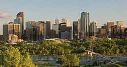Downtown Calgary from Prince's Island Park