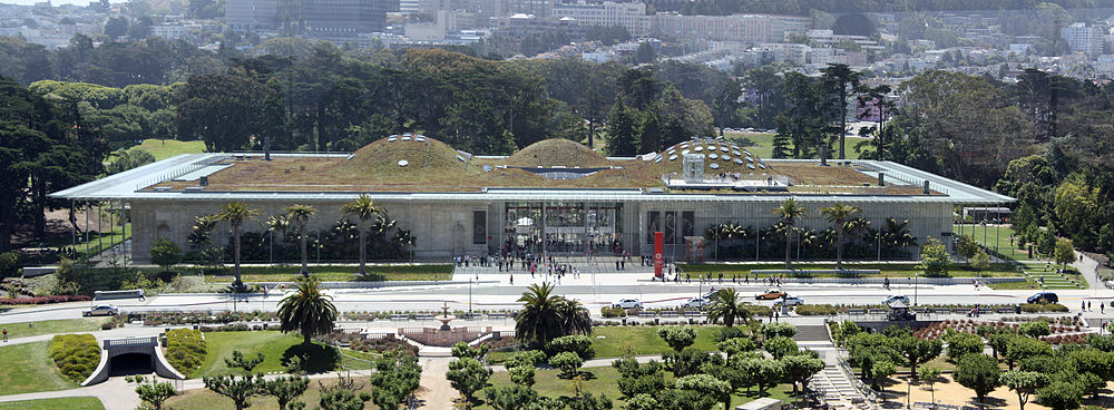 California Academy of Science, viewed from the tower of the de Young Museum