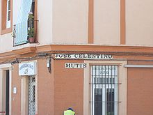 Street named after Celestino Mutis, in Cadiz, Spain