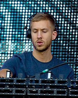 Calvin Harris al festival Rock in Rio a Madrid nel 2012.