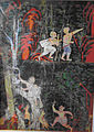 Cambodian - Vessantara Jakata, Chapter 6 - Jujaka Meets the Hunter and is Beset by Dogs on the Way to the Hermitage - Walters 20101240.jpg