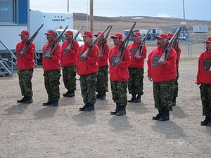 Canadian Rangers - Canadian Rangers with Lee–Enfield Rifle No. 4 rifles, 2011.